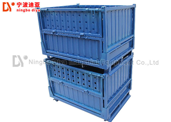 Foldable Stacking Rack System , Adjustable Stackable Wire Mesh Cage